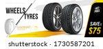 car tire closeup in vector.... | Shutterstock .eps vector #1730587201