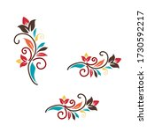 multi color floral pattern... | Shutterstock .eps vector #1730592217