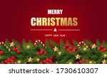 merry christmas and happy new... | Shutterstock .eps vector #1730610307
