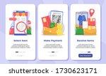 online shopping onboarding...   Shutterstock .eps vector #1730623171
