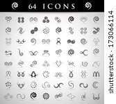 spiral icons set   isolated on... | Shutterstock .eps vector #173066114