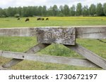 Sign Private On Wooden Gate In...