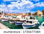 pictorial idyllic traditional greek islands - Aegina , Saronic Gulf, Greece