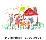family drawing   Shutterstock . vector #173069681