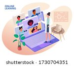 illustrations flat design... | Shutterstock .eps vector #1730704351