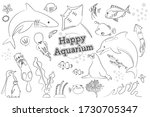 a set of hand drawn style... | Shutterstock .eps vector #1730705347