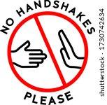 no handshake policy icon or...   Shutterstock .eps vector #1730742634