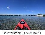 Red Kayak In Bear Cut Heading...