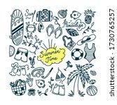 summertime doodle set. water... | Shutterstock .eps vector #1730765257