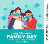 happy international family day. ... | Shutterstock .eps vector #1730773627