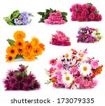 Stock photo flower bouquets isolated on white 173079335