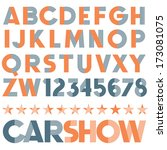 vintage vector font. retro type. | Shutterstock .eps vector #173081075