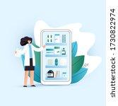 vector flat online pharmacy... | Shutterstock .eps vector #1730822974