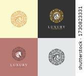 luxury premium vector logo with ...   Shutterstock .eps vector #1730823331