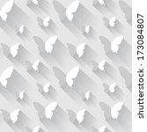 butterfly seamless vector... | Shutterstock .eps vector #173084807