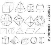 vector set of dirty sketch... | Shutterstock .eps vector #173085119