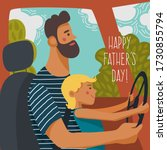 happy father s day. the little... | Shutterstock .eps vector #1730855794
