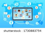 concept of video conference ...   Shutterstock . vector #1730883754