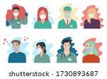 set of illustrations of doctors ... | Shutterstock .eps vector #1730893687