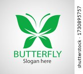 green butterfly leaf template... | Shutterstock .eps vector #1730895757