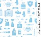 medical vector seamless pattern ... | Shutterstock .eps vector #1730923144