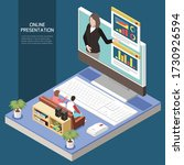 online presentation concept...   Shutterstock .eps vector #1730926594