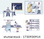concept of medicine production. ... | Shutterstock .eps vector #1730930914