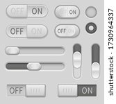 gray web buttons. push buttons  ...