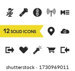 user icons set with mute  heart ...