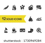 love icons set with balloons ...