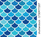 fish scales blue tone seamless... | Shutterstock .eps vector #1730977207