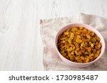 Golden Raisins In A Pink Bowl...