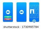 online conference  meeting... | Shutterstock .eps vector #1730985784