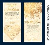 vintage ornamental valentines... | Shutterstock .eps vector #173099807