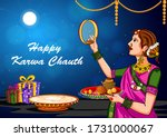 vector design of indian woman...   Shutterstock .eps vector #1731000067