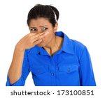 closeup portrait of pretty... | Shutterstock . vector #173100851