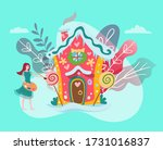 fantastic house in fairy forest ...   Shutterstock .eps vector #1731016837