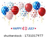independence day greeting card...   Shutterstock .eps vector #1731017977