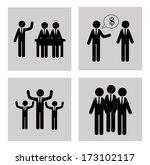 business icon over white... | Shutterstock .eps vector #173102117