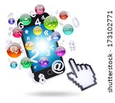 smartphone and application...   Shutterstock . vector #173102771