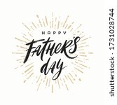 happy fathers day brush... | Shutterstock .eps vector #1731028744