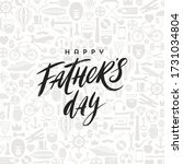 happy fathers day greeting card ... | Shutterstock .eps vector #1731034804