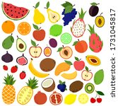collection various fruits and... | Shutterstock .eps vector #1731045817