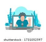 vector flat illustration with... | Shutterstock .eps vector #1731052597