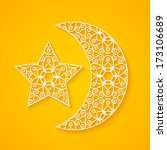 openwork moon and star for your ... | Shutterstock .eps vector #173106689