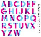 retro vector font. vintage type. | Shutterstock .eps vector #173107421