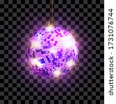 disco ball with light rays...