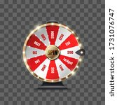 wheel of fortune to play and... | Shutterstock .eps vector #1731076747