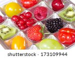 different fresh fruits in a... | Shutterstock . vector #173109944