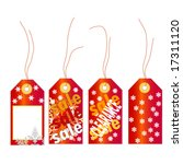christmas tag set | Shutterstock .eps vector #17311120